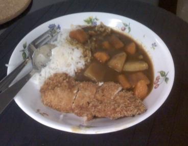 Tonkatsu Japanese Curry Rice - my portion