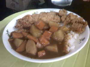 Hubby's portion - MORE!