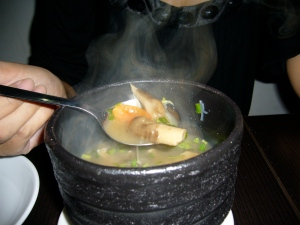 my piping hot mushroom soup