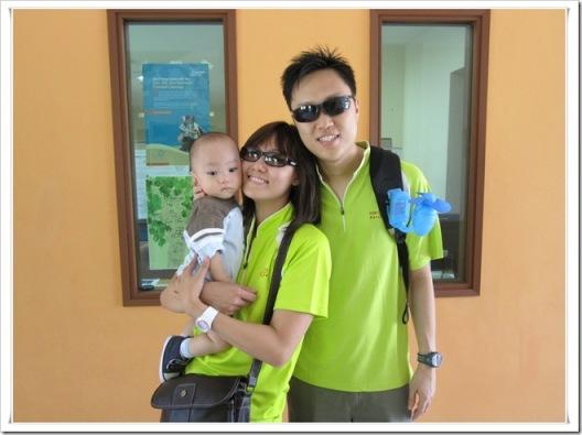 in green t