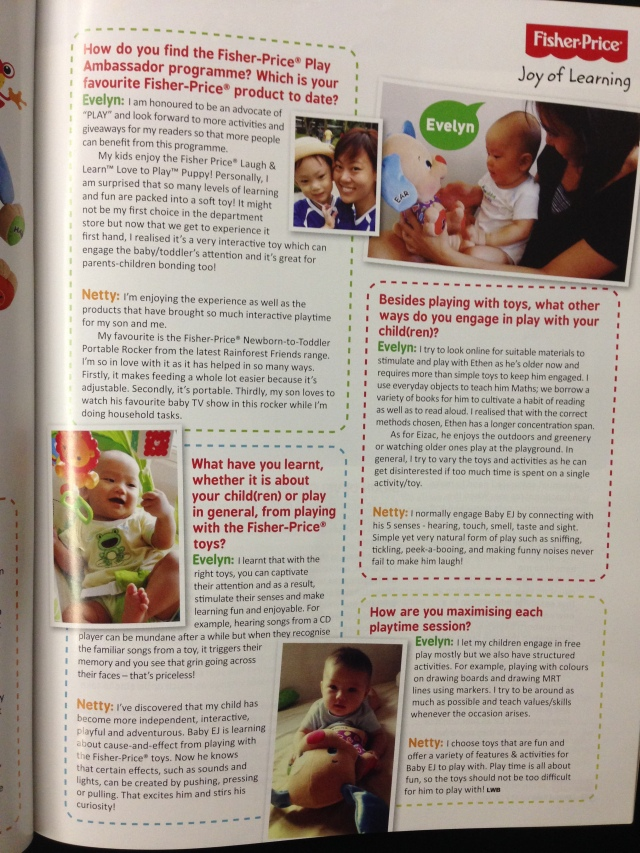 Featured in Live Well Baby Mag Oct/Nov 2013
