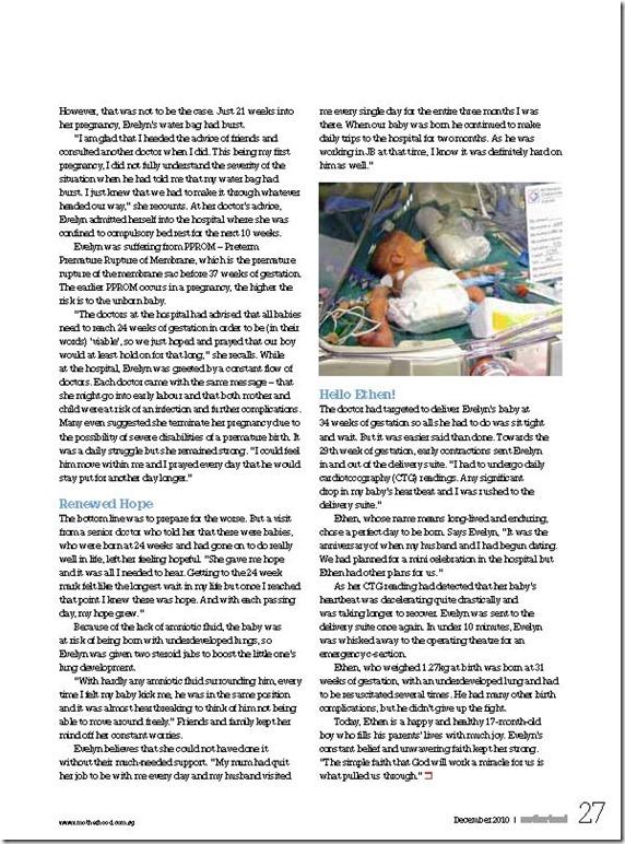 Motherhood Mag Dec 2010 Pg 2